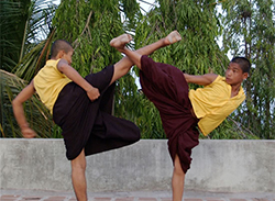 Monks doing Kung Fu
