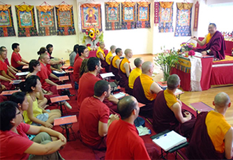Venerable Lama Dondrup Dorje teaching in Athens